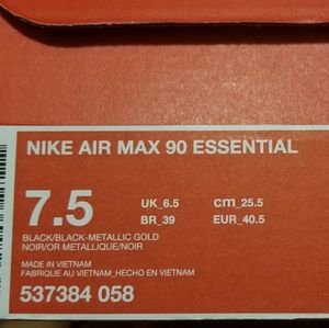 90 Essential and Black Max Nike Gold Air XkuiPZ